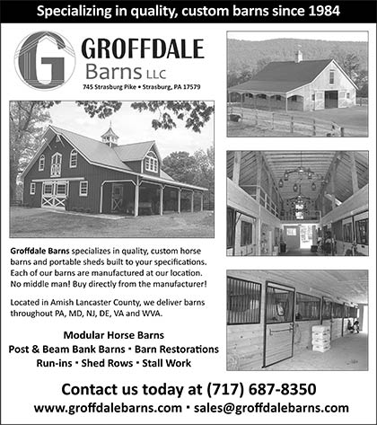 Barns, Arenas & Footings Featured Ads at East Coast