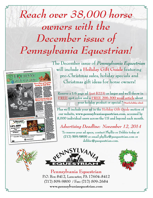 Look what�s coming up in the Pennsylvania Equestrian December 2014