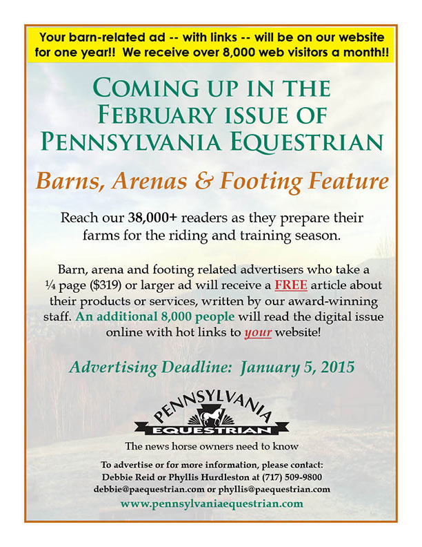 Look what�s coming up in the Pennsylvania Equestrian February 2015
