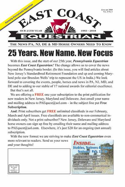 East Coast Equestrian 2018 News Archive