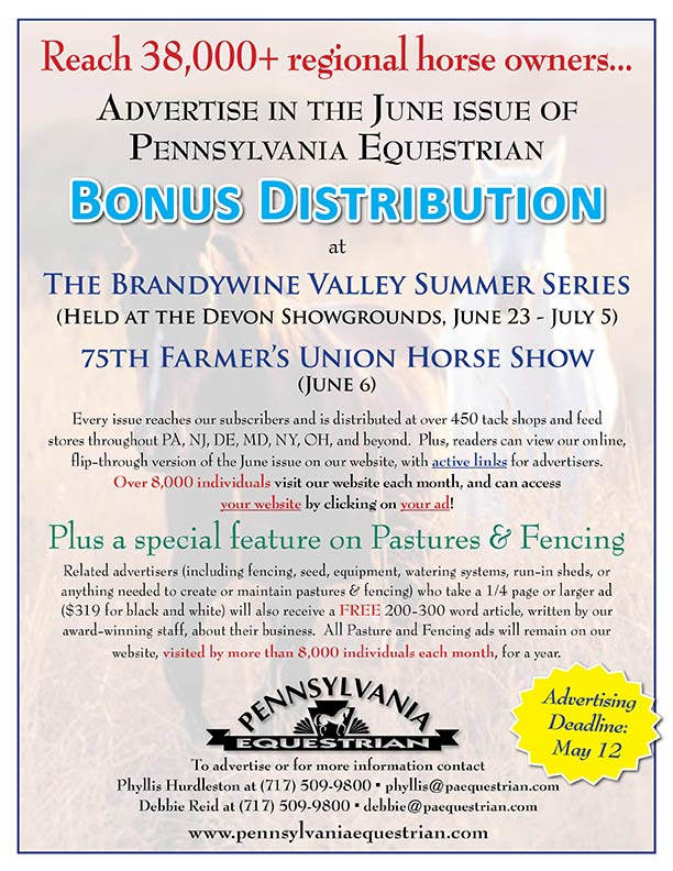 Look what�s coming up in the Pennsylvania Equestrian June 2015