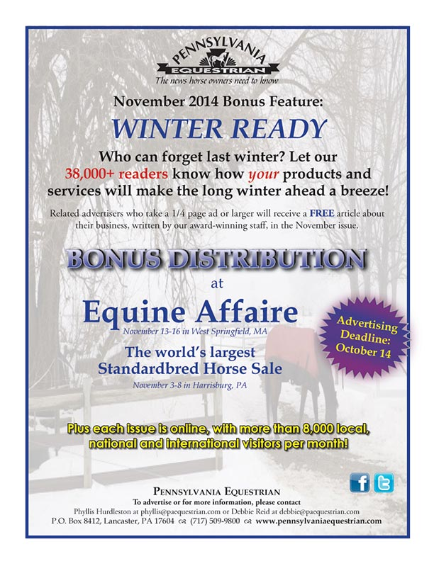 Look what�s coming up in the Pennsylvania Equestrian November 2014